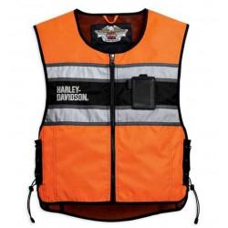 Hi-Vis Vest Orange Harley Davidson