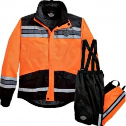 Hi-Vis Rain Suit Orange Harley Davidson
