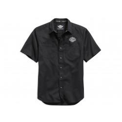 Short Sleeve Logo Woven Shirt