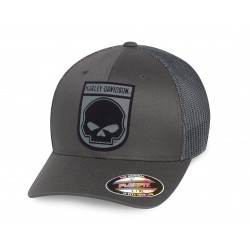 Rubber Skull Patch Stretch Trucker Cap