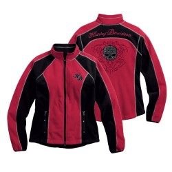 Scroll Skull Windproof Fleece