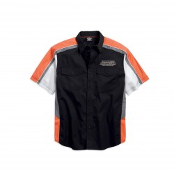 Performance Vented Pinstripe Flames Shirt