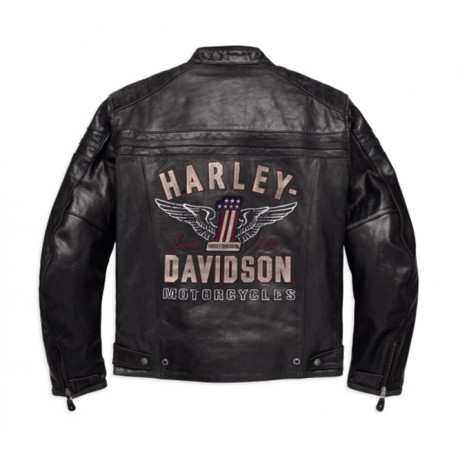harley davidson genuine classics leather jacket 98121 17em. Black Bedroom Furniture Sets. Home Design Ideas