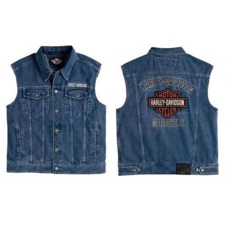 Fabuleux Blouson jean sans manche Harley Davidson _hd_99041-08vm &DG_02