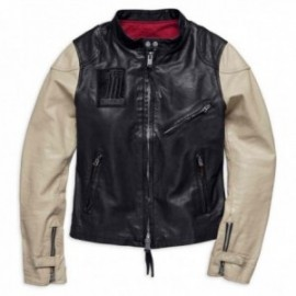 Blouson cuir Femme Harley Davidson Pushrod Leather