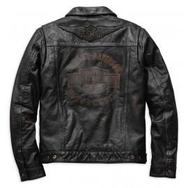 Blouson Cuir Homme Harley Davidson Digger Slim Fit Leather Jacket