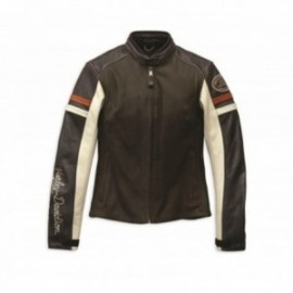 Blouson Cuir Harley Femme Delmita Leather Jacket