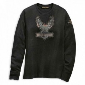 T-shirt Harley Davidson pour femme Studded Distressed Eagle Tee
