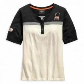 T-shirt Harley Davidson pour femme H-D® Racing Short Sleeve Henley