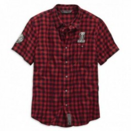 Chemise Homme Harley Checked Plaid Slim Fit Shirt