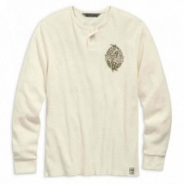 T-shirt Homme Harley Davidson American Muscle Slim Fit Waffle Knit Henley
