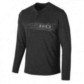 T-shirt Homme Harley Davidson Merino Wool Blend Slim Fit Henley