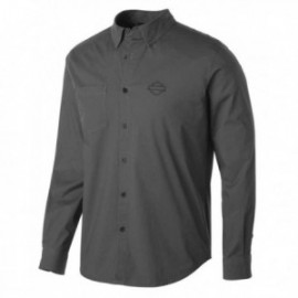 Chemise Homme Harley Stretch Long Sleeve Slim Fit Shirt