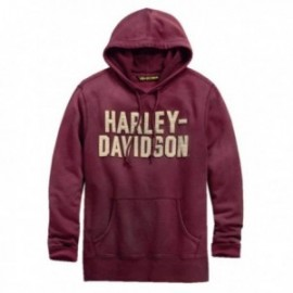 Sweat à capuche Harley Homme Felt Lettering Slim Fit Pullover Hoodie