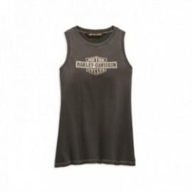 T-shirt Harley Davidson Femme Distressed Logo Tank