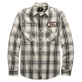 Chemise Homme Harley H-D® Racing Long Sleeve Plaid Shirt