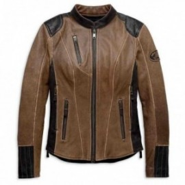 Blouson cuir Femme Harley H-D® TRIPLE VENT SYSTEM™ Gallun Leather Jacket