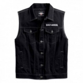Gilet Homme Harley Upright Eagle Denim Vest