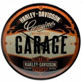 Horloge Harley retro avec design Garage