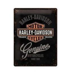 Plaque métal Harley Davidson Genuine 30x40cm