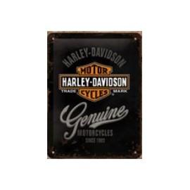 Boîte métal Harley Davidson Genuine 10x14cm