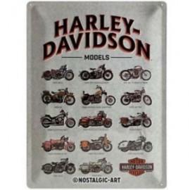 Plaque métal Models Harley Davidson 30x40cm