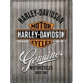 Plaque métal Harley Davidson rétro Genuine 30x40cm