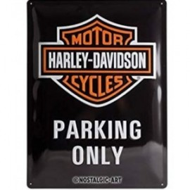 Plaque métal Harley Davidson Parking Only 30x40cm