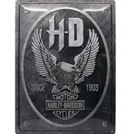 Plaque métal H-D Harley Davidson 30x40cm