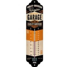 Thermomètre Harley-Davidson sur tôle, Métal, Garage, 28 x 6.5 x 2 cm