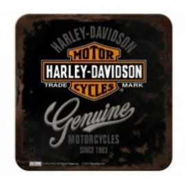 Dessous de verre en métal Harley Davidson Genuine 9x9cm