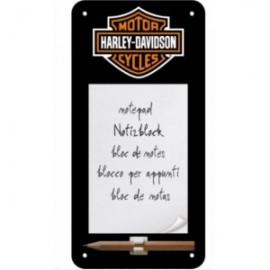 Bloc note métallique Harley Davidson ® 10x20cm