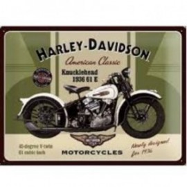 Magnet Harley-Davidson Knucklehead 61E de 1936 6x8cm