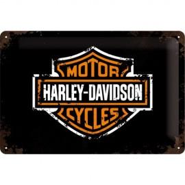 Plaque métal avec le visuel Harley Davidson 20x30cm