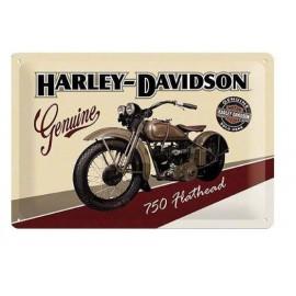 Plaque métal Harley Davidson 750 Flathead 20x30cm