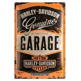Plaque métal Harley Davidson Genuine Garage 40x60cm