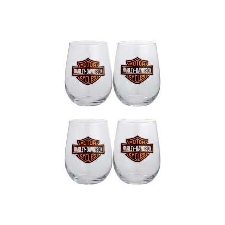Mug Harley Black & White, Bar & Shield