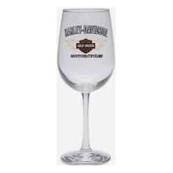 Flames Bar & Shield Logo Wine Glass