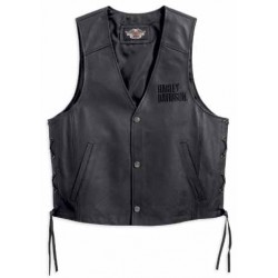 Tradition Leather Vest Harley Davidson