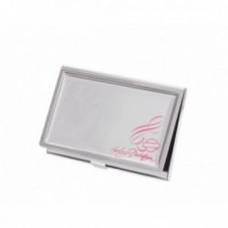 Pink Label Business Card Holder