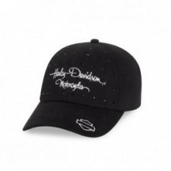 Black Rhinestone Cap
