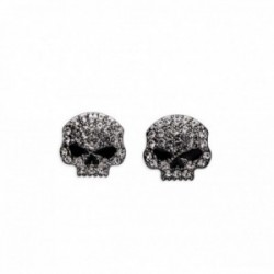 Rhinestone Skull Stud Earrings