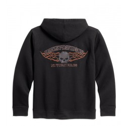 Burning Skull Hooded Sweatshirt