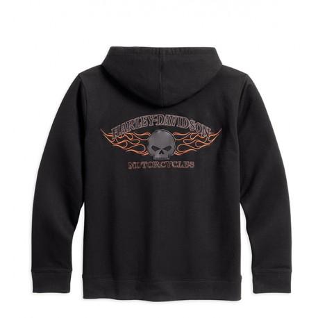 Burning Skull Hooded Sweatshirt