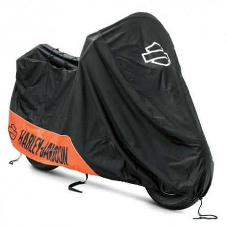 93100022 housse harley davidson orange et noir. Black Bedroom Furniture Sets. Home Design Ideas