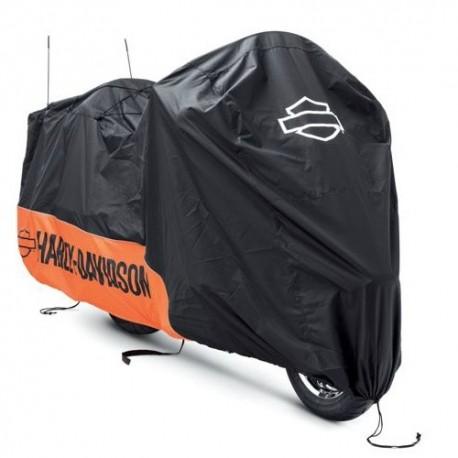 93100023 housse harley davidson orange et noir. Black Bedroom Furniture Sets. Home Design Ideas