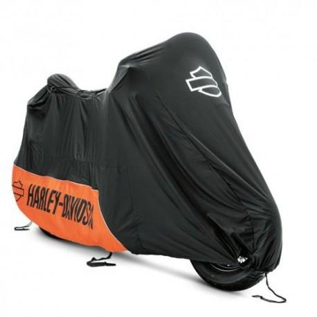 93100019 housse harley davidson orange et noir. Black Bedroom Furniture Sets. Home Design Ideas