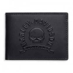 Skull Bi-Fold Flip-Out Wallet
