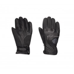 Bar & Shield Logo Leather & Mesh Gloves
