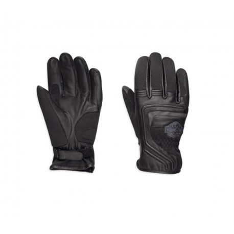 harley davidson bar shield logo leather mesh gloves 98362 17em. Black Bedroom Furniture Sets. Home Design Ideas